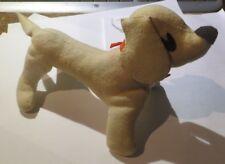 Peluche chien basset blanc