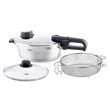 Fissler 4 Pc 4.2qt Vitavit Premium Pressure Cooker Skillet Set