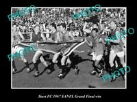 OLD LARGE HISTORICAL PHOTO OF THE STURT FC 1967 SANFL GRAND FINAL WIN