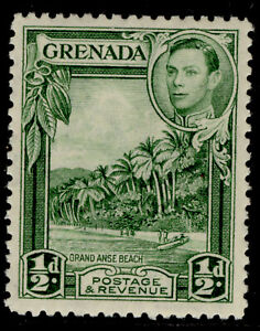 GRENADA GVI SG153, ½d yellow-green, NH MINT. Cat £18. PERF 12½