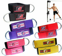Best STRONG Weightlifting ANKLE D-RING Pulley CABLE Attachment GYM Leg STRAP Pai
