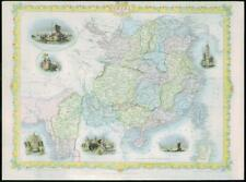 "1850 - RARE Original Antique Map of ""CHINA BURMA"" by TALLIS - FULL COLOUR (16)"