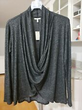 Maurices 2XL Top Tunic Sweater NEW Gray Waffle Soft Fabric Cowl Neck