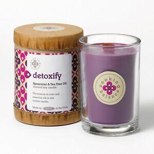 Seeking Balance Aromatherapy Range. Soy wax candles. Wood Wick