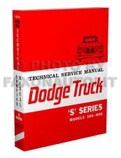 1964 dodge truck shop manual pickup power wagon panel d100 d200 d300  w100-wm300