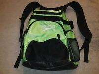 Speedo Teamster 35 L Fluorescent Green Black Swim Backpack Bag Pre-owned