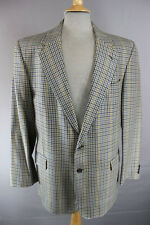 Brook Taverner British Made PURA LANA SCOZZESE Tweed CHECKED Giacca 42 pollici