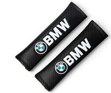 2 x Carbon Fibre Looking Logo Seatbelt Cover Pads for BMW 320 420 428 435i M3 M4