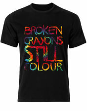 Broken Crayons Still Colour Tie Dye Pattern Vibe Quote Mens Tshirt Tee Top AC69
