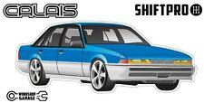 VL Calais Holden Commodore Sticker - Blue with Factory Rims - ShiftPro Brand