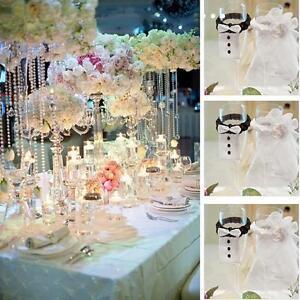 Cup Decor Sleeve Wine Glass Covers Groom Mariage Gadgets Wedding Decoration CZ