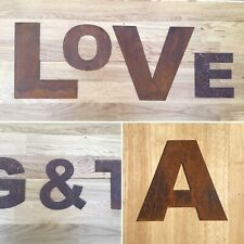6 Inch rusty metal letters shop sign home