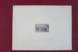 Tunisia. Scott 330. Artist Signed Engraved Die Proof. Only 19-28 exist.
