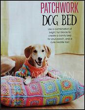 Patrón de ganchillo * Patchwork Cachorro Perro Cama * Pañuelo para el cuello * * Canino * desgaste del animal doméstico