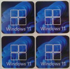 x4 pcs  Window 11 Sticker for Desktop Laptop Vinyl Case Badge /Decal  size 20 mm