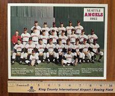 Original 1965 SEATTLE ANGELS PCL team photo Pacific Coast League baseball