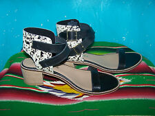 NIB $109~Western Leather Cowhide Hair Strappy Open Toe Sandals~ORIN~10~Matisse