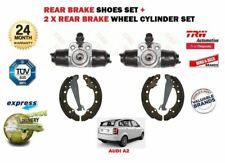 FOR AUDI A2 1.4i 1.4 TDI 2000-2005 REAR BRAKE SHOES SET + 2 WHEEL CYLINDERS KIT