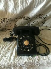 Vtg 1964 Western Electric Bell System Black Metal Rotary Dial Desk Top Telephone