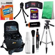 "Camera Case + 8GB SD Card + 50"" Tripod for Canon SX40,SX50,G1X,G15,G16 + Acc Kit"