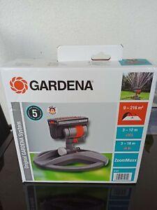 Gardena Viereckregner ZoomMaxx 8127 /Regner Rasensprenger mit Schlitten