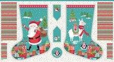 Christmas Stocking Let it Snow Christmas Panel - Makower Advent Calendar Craft