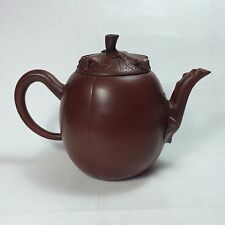 Yixing Pottery Teapot. Squash shape with very smooth sides. TE23-78
