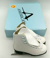 American Athletic Womens Sz 5 , Tricot white Soft Boot Ice Skates