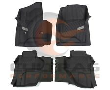 2015-2018 Sierra Double Cab Front & Rear All Weather Floor Liners Black