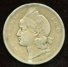 1897 Dominican Republic 25 Gramos Silver Coin