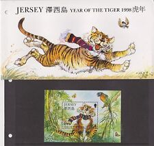 JERSEY PRESENTATION PACK 1998 YEAR OF THE TIGER STAMP MINIATURE SHEET 10% OFF 5+