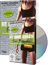 FIT OHNE GERÄTE für Frauen Buch + DVD Bundle Training Workout Anleitung Fitness