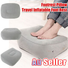 Travel Train Plane Portable Rest Flight MN Footrest Pad Inflatable Foot Pillow
