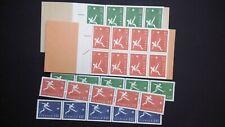 H121 + H122 Sweden 1958 Scott #524 - 528 Soccer World Cup football MNH st