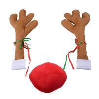 Auto Kostüm Rentier Geweih Antlers Rot Rudolph-Nase Nose Weihnachten Dekoration