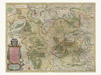 Alte Braunschweig Lüneburg Deutschland Landkarte Blaeu ca. 1655 Papier Leinwand