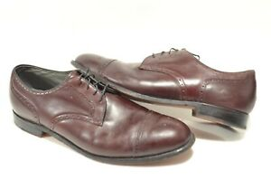 FootJoy Classics 15 Mahogany Brown Leather Made in USA Cap Toe Derby Dress Shoes