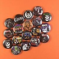 """Misfits 1"""" PIN BUTTON lot Danzig Samhain Doyle Jerry Only Horror Punk"""