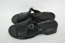 Clarks England 71856 Black Lady Bug Ladies Sandal Leather Shoe Size 6 1/2