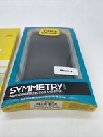 New OtterBox Symmetry Case for iPhone 6/6s + Alpha Glass Screen Protector Bundle