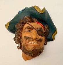 Vintage Bossons Congleton England Chalkware Head Wall Hanging Sir Henry Morgan