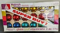 vintage glass Christmas ornaments with box American made Woolworth Woolco 18
