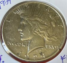1924 P Peace Dollar Vf/Au Beautiful 90% Silver Collectible Coin #1