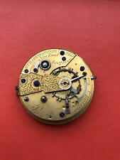 Antique Fusee Pocket Watch Movement Spares Or Repairs
