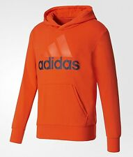 NWT ADIDAS ESSENTIALS LINEAR PULLOVER HOODIE #S98773  Size:SMALL