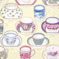 High Tea Blue China Pattern Paper Napkins Serviettes Cups Saucers Mugs