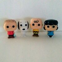 """PEANUTS Characters Figurines Set of 4 Snoopy Charlie Brown Lucy Linus 2.5"""" Tall"""
