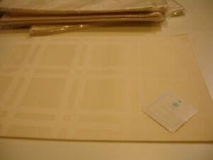 "Martha Stewart Collection Skylight Plaid Place mats ( Set of 4) NEW - 18""X13""."