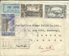 Sierra Leone SG#192,#197,#195-FREETOWN 15/JA/45-REGISTERED