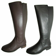 Synthetic Knee High Solid Women's Boots